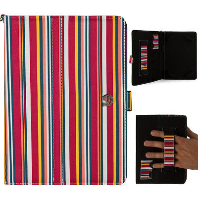 """VanGoddy Stripe Leather Tablet Carry Case Cover For 8"""" Samsung Galaxy Tab A/S2/E for sale  Shipping to India"""