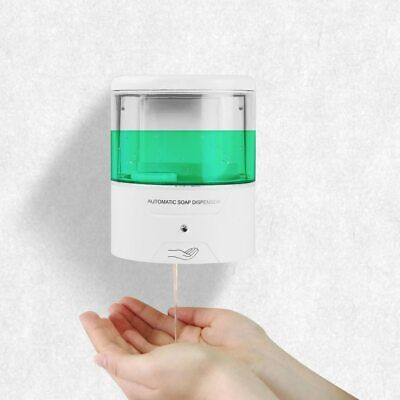 Automatic Soap Dispenser Touchless Wall Mount Smart Sensor 600ml Hand Washer