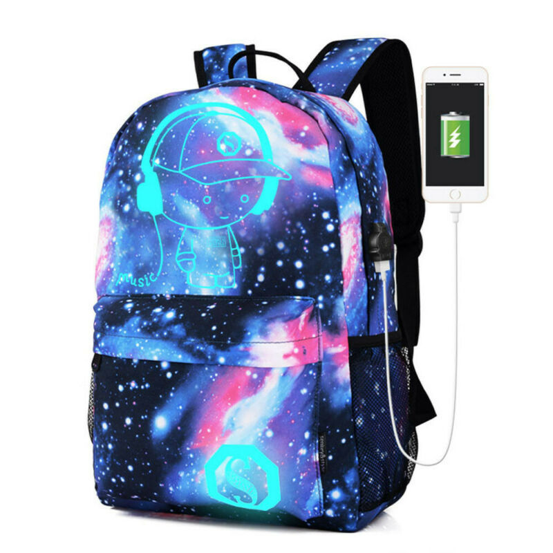 galaxy school bag backpack collection canvas usb