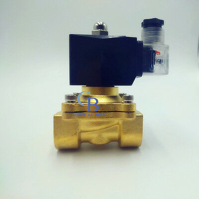 Ac 220v G38 Brass Electric Solenoid Valve For Water Air Waterproof Nc Ip65