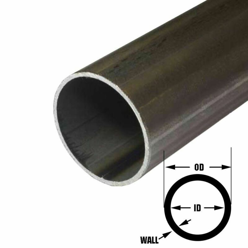E.R.W. Steel Round Tube 2.000 (2 inch) OD, 0.083 inch Wall, 12 inches
