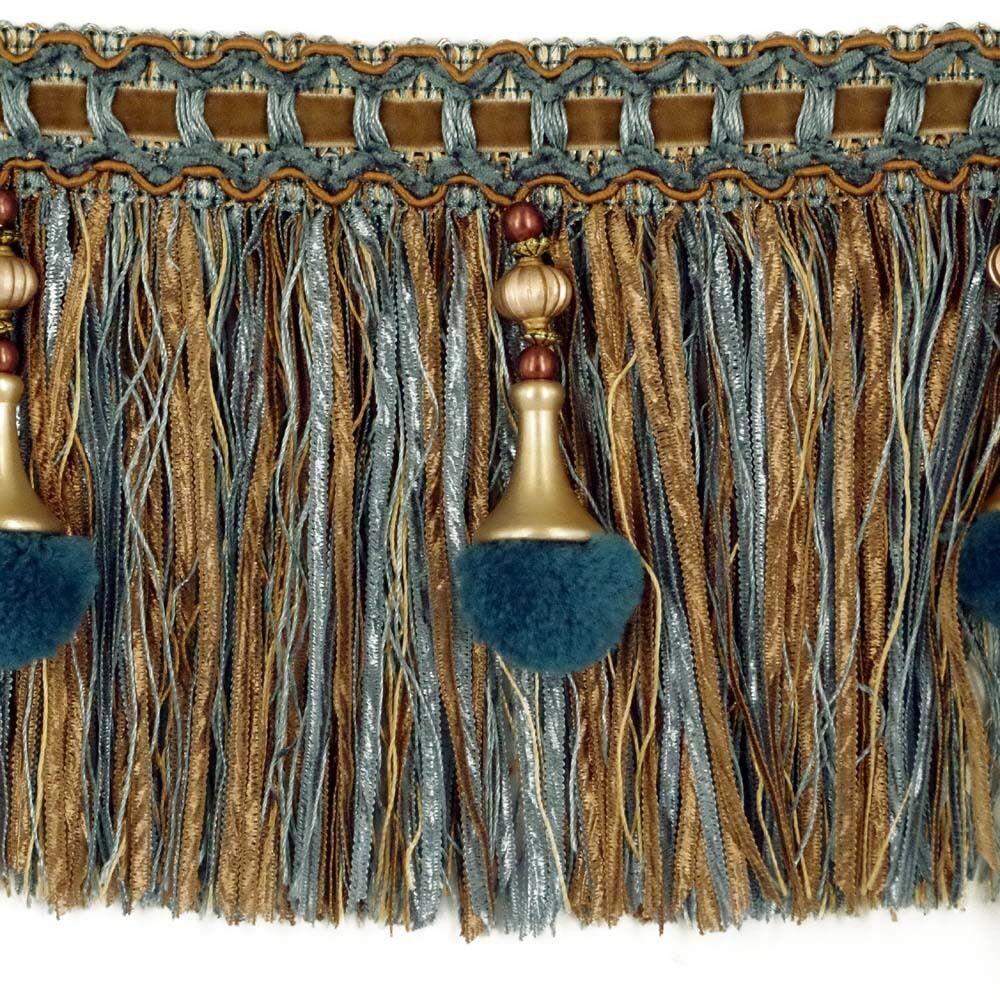 Luxury Exquisite Beaded Tassel Trim Fringe Braid Trimming