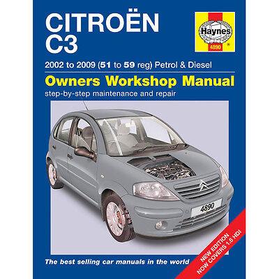 Citroen C3 1.1 1.4 1.6 Petrol 1.4 1.6 Diesel 2002-09 (51-59 Reg) Haynes Manual