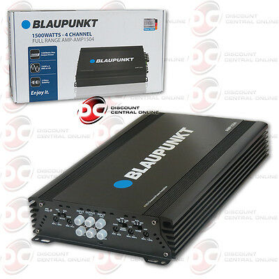 BLAUPUNKT AMP1504 CAR AUDIO 4 CHANNEL AMP AMPLIFIER 1500W MAX PEAK POWER