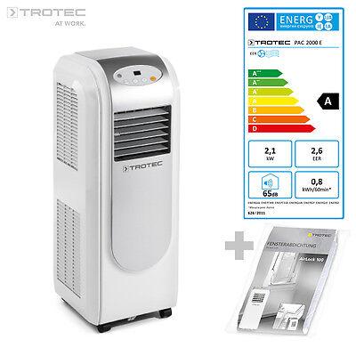 TROTEC PAC 2000 E Lokales Klimagerät Mobiles Klimaanlage Monoblock 2,1 kW EEK A