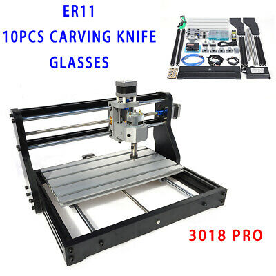 3018 Pro Diy Cnc Router 2in1 Laser Head Engraving Machine 500mw Er11 Collet Us