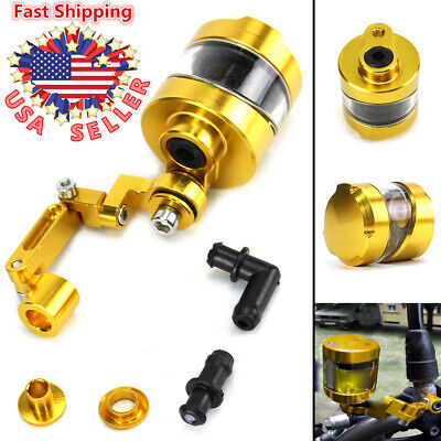 Universal Motorcycle Front Brake Clutch Tank Master Fluid Oil Cup Reservoir -