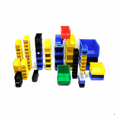 (Lot 77) Akro-Mils Stackable Storage Bins Plastic Container Organizer Various Akro Plastic Bins