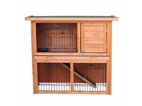 SALE!! 2-Tier Double Decker Rabbit/ Guinea Pig Hutch House Cage Rabbit huntchs with Sliding Tray