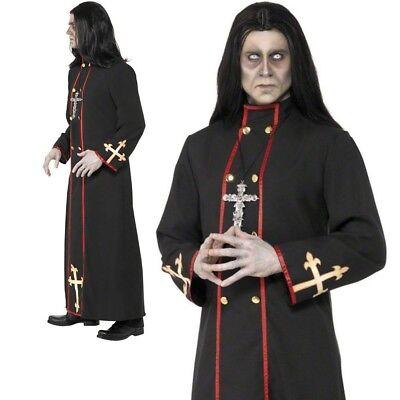 Erwachsene Minister des Todes Kostüm Herren Zombie Priester Kostüm Halloween Neu