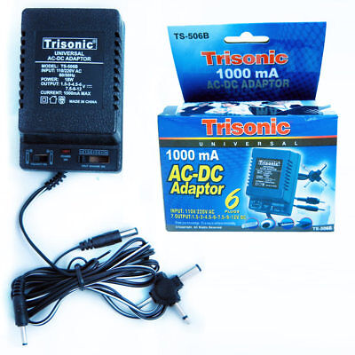 Universal AC DC Power Adapter Output 1.5-3-4.5-6-7.5-9-12 V 1000 mA 220V 50 Hz