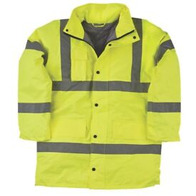 "Hi-Vis Padded Work Jacket / Coat, Yellow, XXL, Waterproof. ""BRAND NEW"""