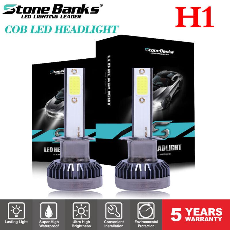 2x Mini H1 COB LED Headlight Bulb High Low Beams 6000K White Lamp 260000LM 1200W
