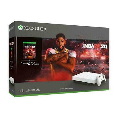 Brand New Xbox One X 1TB NBA 2K20 Special Edition White Console Game Bundle
