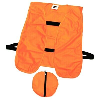 Hi Vis High Visibility Work Vest Safety Construction Hunting Reflective W Pouch