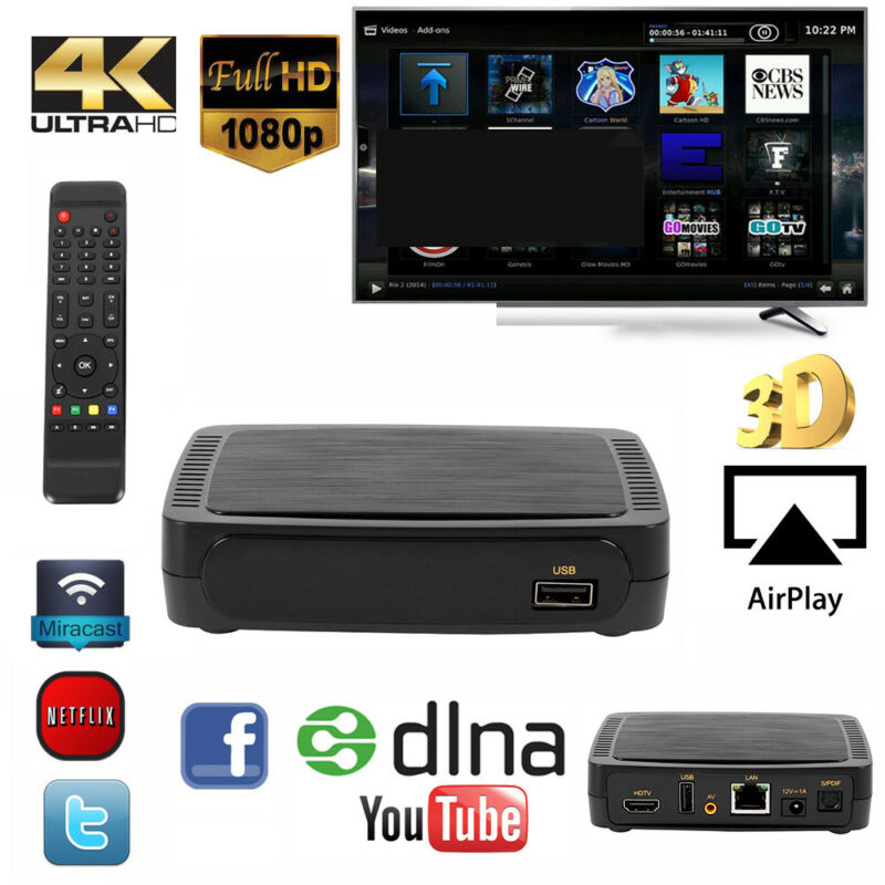 M258 IPTV SET TOP BOX Multimedia player Internet TV IP Konsole H.256 254 HDTV