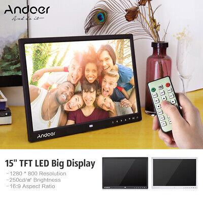 "Andoer 8/10.1/15/17"" 1080P HD TFT LED LCD Digital Photo Frame Album Display MP4"