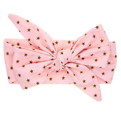 Newborn Infants Girl Baby Bow Headband Hair Band Accessories Headwear Head Wrap