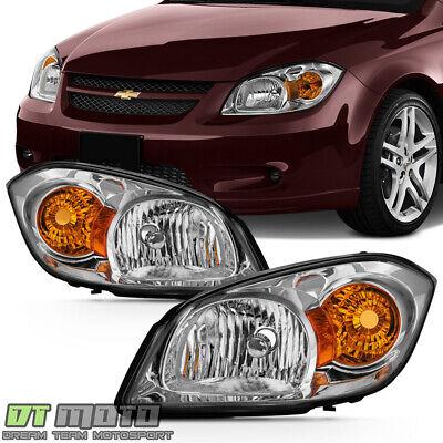2005-2010 Chevy Cobalt 07-10 Pontiac G5 05-06 Pursuit Headlights Headlamps Pair