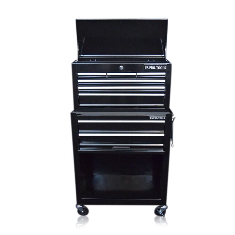 311 us pro tools black tool chest box roller cabinet. Black Bedroom Furniture Sets. Home Design Ideas