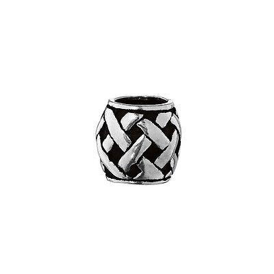 Haarschmuck Bartperle Keltisches Muster 925 Sterlingsilber Lockenperle 6395
