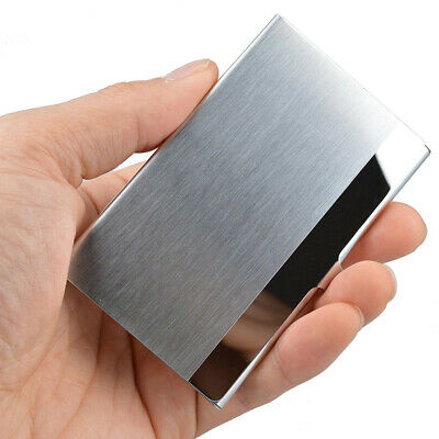 Silver Pocket Stainless Steel Business Card Holder Case Id Wallet Business