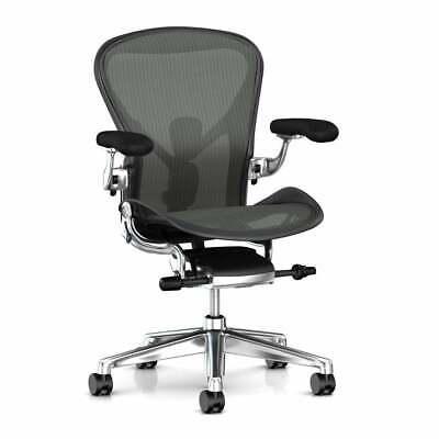 Herman Miller Aeron Office Chair - Color Graphite, Size Medium