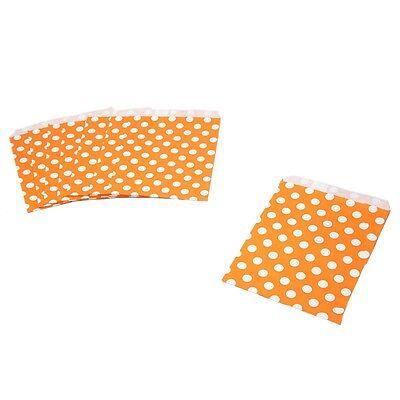 Orange Polka Dot Paper Treat Bags