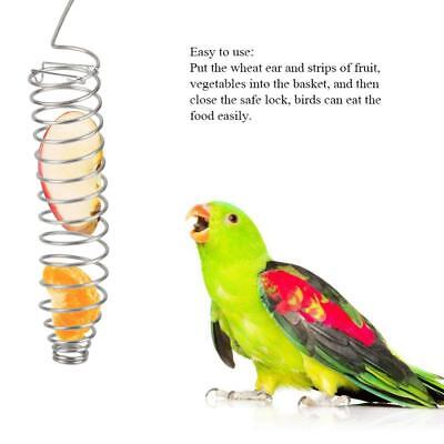 Parrot Food Fruits Basket Millet Stainless Steel Feeding Device Bird Cage Feeder