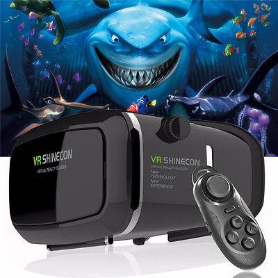 VR BOX 3D Glasses Headset Virtual Reality Video Movies Games Bluetooth Remote
