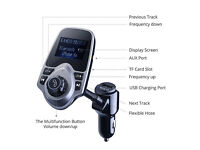 Car MP3 & Bluetooth FM Transmitter Hands Free