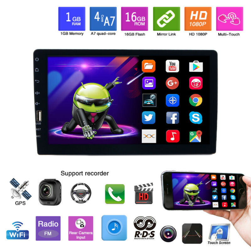 """Single 1 Din 9"""" Car FM/USB/AUX MP5 Player Touch Screen Stereo Radio BT In-Dash"""