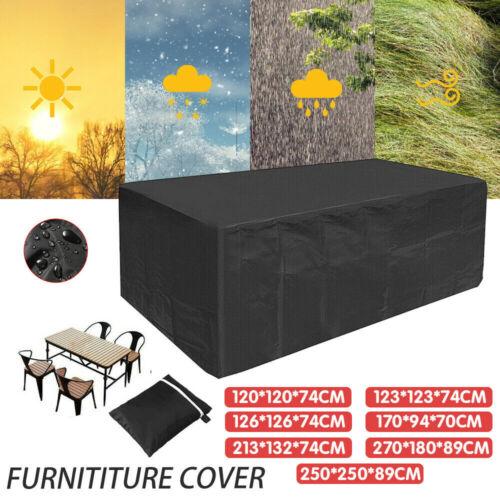 Garden Furniture - Waterproof Outdoor Furniture Cover Garden Patio Rain UV Table Chair Protector AU