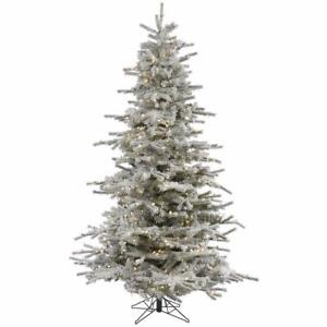 """Vickerman A861886LED Unlit Flocked Red Pencil Fir Artificial Christmas Tree (10' x 70"""") NEW"""