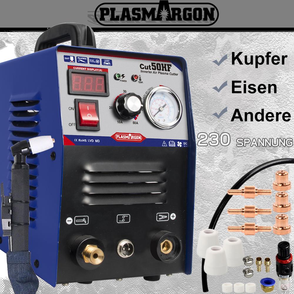 HF Inverter PLASMASCHNEIDER BlauCUT50 Schneiden 14mm PLASMASCHNEIDGERÄT 50A 230V