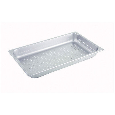 Winco Spfp2 2.5-inch Deep Full-size Stainless Steel Perforated Steam Table Pan