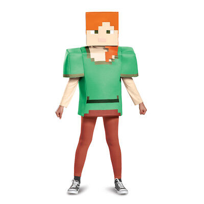 Girls Minecraft Alex Classic Halloween Costume - Minecraft Girl Costumes