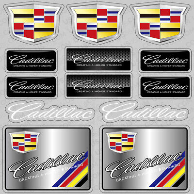 For Cadillac Performance Sport Car Sticker 3D Decal Logo Stripe Decoration Gift