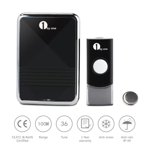 Купить 1Byone® - Wireless Battery Portable Digital DoorBell Chime Waterproof Remote Control LED