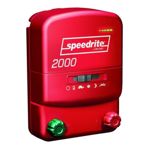 Speedrite 2000 Energizer 20 Mile Fence Charger. AC/DC Powered 80 Acres