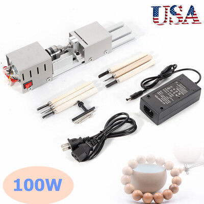 Dc 24v 100w Mini Lathe Beads Polisher Machine Diy Woodworking Drill Rotary Tool