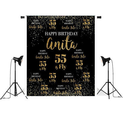 Step and Repeat Birthday Backdrop Custom 50th 55th Birthday Backdrop Photo - Custom Photo Props