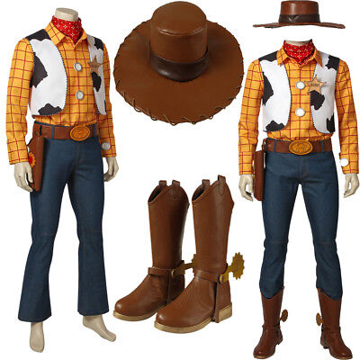 Toy Story Costume Woody Cosplay Cowboy Adult Men Outfits Halloween Full Set Suit - Woody Toy Story Costume Men