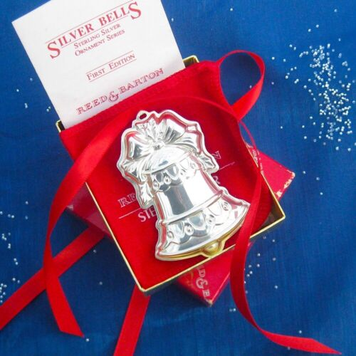 RARE• NEW • Reed & Barton 1991 SILVER BELLS Sterling Silver Christmas Ornament