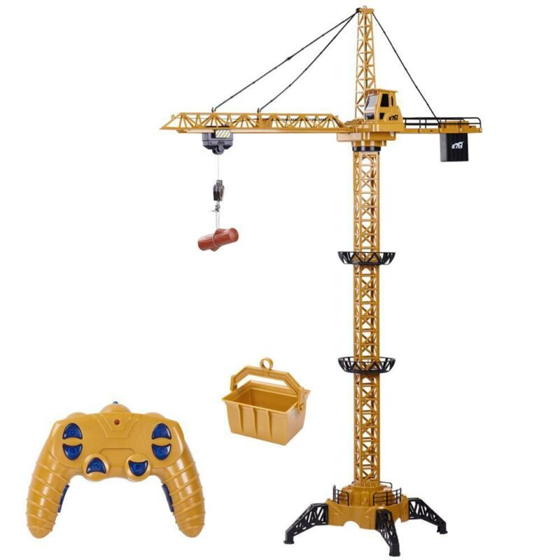 RC Tower Crane 680°Rotation Lift Model