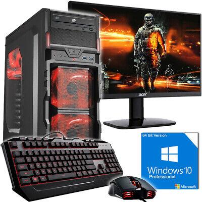 Gamer PC Komplett-Set AMD FX 8350 8 X 4,2GHz Nvidia GTX1050 Ti 4GB OC Gaming!