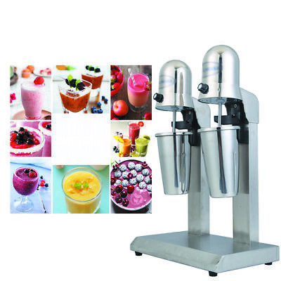 110v Double Head Milk Drink Shake Mixer Machine Stainless Steel Tea Mixer