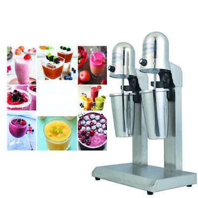 110v Double Head Milk Drink Shake Mixer Machine Stainless Steel Tea Mixer