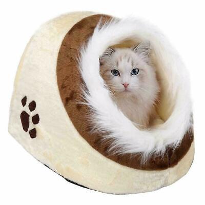 Cat Kitten Pet Bed Igloo House Cave Dog Puppy Sleeping Snug Cozy Mat Easipet