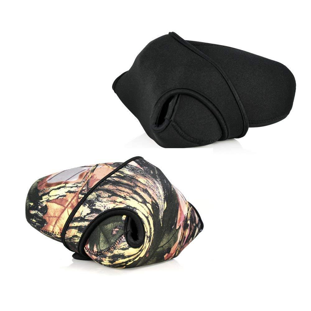 Large Size Camouflage Neoprene Zoom Camera Sleeve Pouch Bag